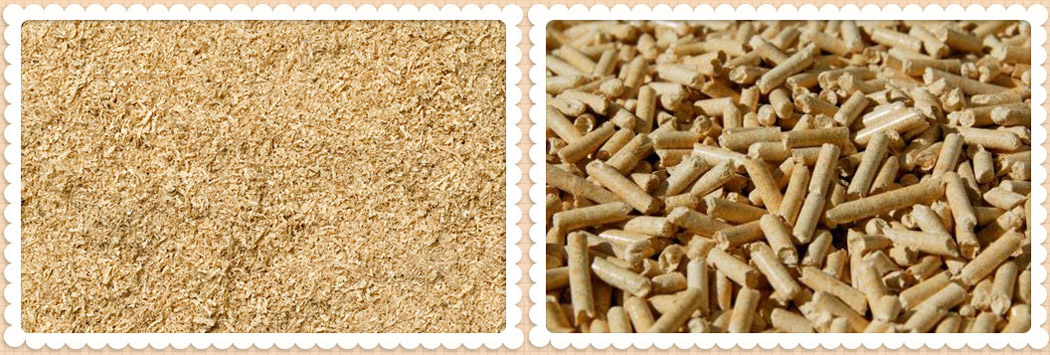 make sawdust into wood pellets