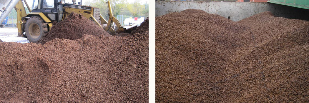 recycle olive pomace into biomass pellets