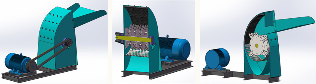 wood hammer crusher machine design