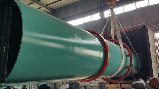 rotary drum dryer for olive pomace