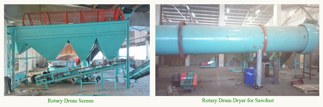 rotary drum screen and sawdust dryer