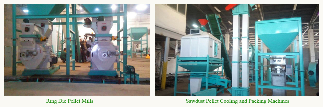 sawdust pellet mill,cooler and packer